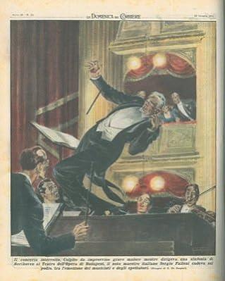 """Copertina illustrata a colori in fascicolo originale completo de """"La Domenica del Corriere"""" del 22/06/1947"""