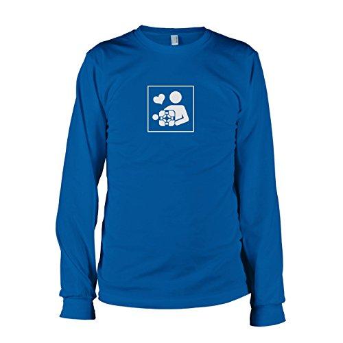 TEXLAB - Cube Love - Langarm T-Shirt Marine