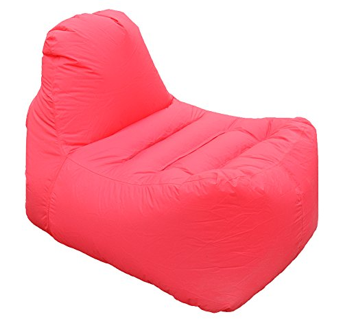 randonnée extérieur Airchair gonflable Chaise longue léger étui de transport/rouge