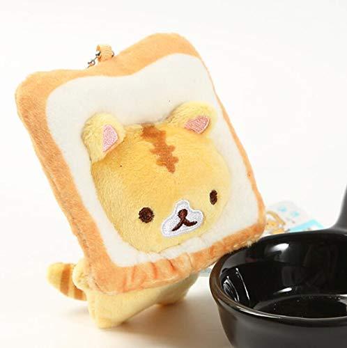 CDGZ Japanische Brot Katze Toast Katze plüsch Puppe kleine anhänger Puppe kleine gelbe Katze Tasche hängen Ornamente wj01 9cm f Japanische Brot