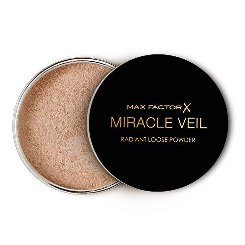 Max Factor Miracle Veil Radiant Loose Powder, Cipria in Polvere Libera a Lunga Durata, 15 G