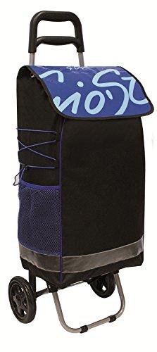 GioStyle Gio 'Style Einkaufstrolley Glamour Farben Sortiert Lunch Bag Thermo, Schwarz, 40x50