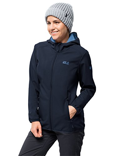 Jack Wolfskin Damen Northern Point Women Softshelljacke, blau (midnight blue), L