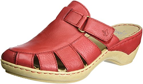 Caprice 27300, Sandales Bout Ouvert Femme Rouge (Red Nappa)