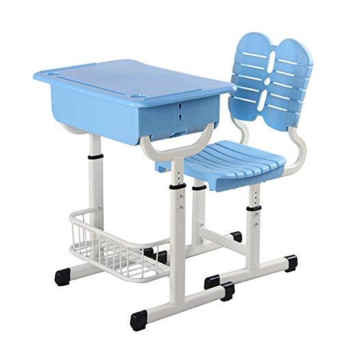 YFASD Ergonomisch Kinderschreibtisch Schreibtisch und Stuhl für Kinder und Schüler Schülerschreibtisch Set höhenverstellbar,A
