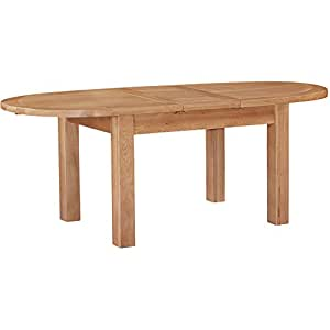 Beau JTF Furniture Canterbury Oak Ext Dining Table Oval 1.8 2.2m