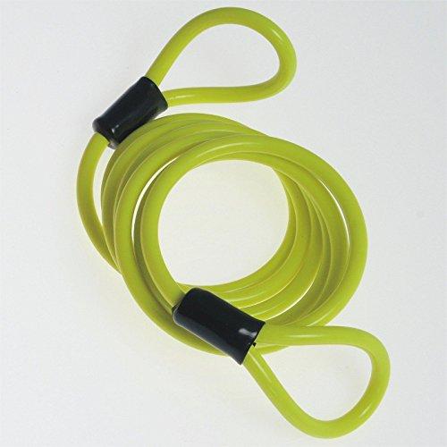 metallische-kabel-gummi-schutzhuelle-reminder-antidiebstahl-motorrad-gelb