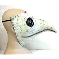The Rubber Plantation TM 619219296397 the Plague Doctor Mask Costume White Latex Halloween Steampunk Bird Beak Victorian Gothic Medic by Coopers Fancy Dress, Unisex-Adult, One Size