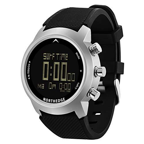 SW Watches North Edge Herren Sport Smart Digital Taucheruhren mit Touchscreen/wasserdicht 100M/Höhenmesser/Kompass/Barometer/Hintergrundbeleuchtung Multi Armee Armbanduhr für Outdoor,Detail
