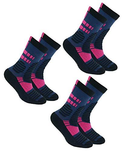 EveryKid Ewers 3er Pack Mädchensocken Sparpack Markensocken Thermosocken Socken Kinder (EW-201068-W18-MA6-9121-9121-9121-27/30) in Tinte Pink-Tinte Pink-Tinte Pink, Größe 27/30 inkl Fashionguide