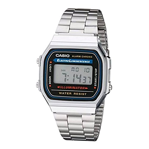 Casio Retro Unisex Uhr Alarm Chrono Digitaluhr A168WA-1WDF
