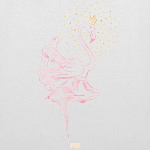 Spreadshirt Animal Planet Flamingo Ballerina Ballett Stoffbeutel Weiß