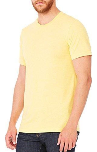 Jersey Crewneck T-Shirt - Farbe: Heather Yellow Gold - Größe: XXL - Crewneck Heather Jersey T-shirt