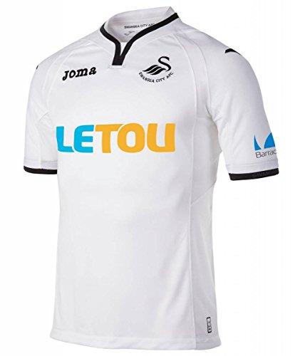 Man City Home Shirt (2017-2018 Swansea City Joma Home Football Shirt)
