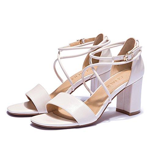 Spesso con sandali romani in estate/Tacchi alti aperti a cinghia A
