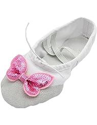 Lisianthus002 - Zapatillas de danza de Lona para niña