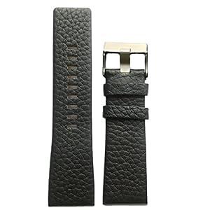 26mm correa de reloj de cuero genuino negro color hebilla de acero inoxidable por China Mart Industrial Co.