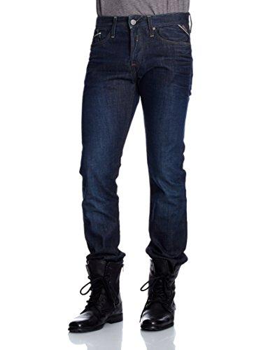 Replay Herren Straight Leg Jeanshose Waitom M983 Darkblue