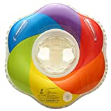 Shinelee Flotador Bebe Anillo de Natación con Asiento Arco Iris Barca de Piscina Flotadores Inflable para Bebés Niños (12-36 Meses)