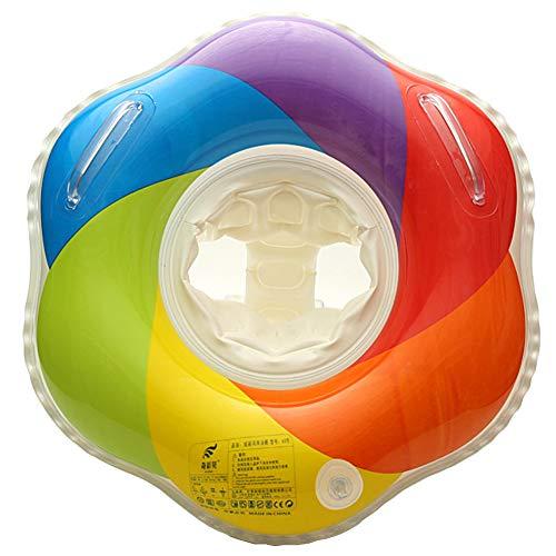 Baby Schwimmring mit Schwimmsitz Regenbogen Schwimmreifen Pool Schwimmen Float Aufblasbar Schwimmhilfe für Kinder (3-12 Monaten)