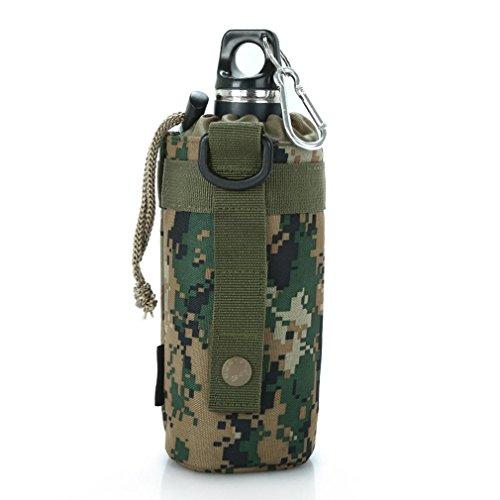 Military Fans Camping Wasser Flasche Taschen / Anhänger Zubehör / Tactical Military Wasser Flasche Beutel im Freien 900D Nylon Molle Kessel Bag Holder (750ml) jungle number