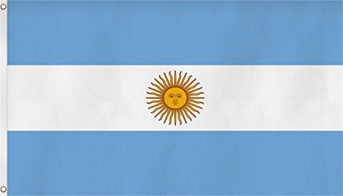 normani Flagge Fahne ca. 90x150 cm Nationalflagge Nationalfahne Farbe Argentinien