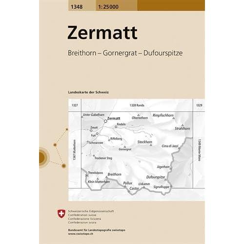 Carte routière : Zermatt