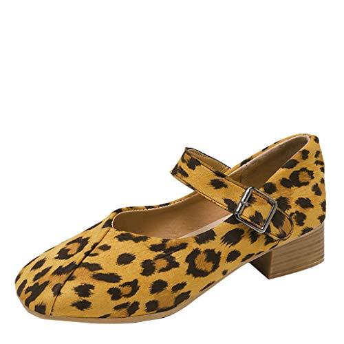 Dhyuen Frauen 2019 Element Leopard Freizeitschuhe Schnalle Frühling Sommer Komfortable Keil Mit Einzelnen Schuhen
