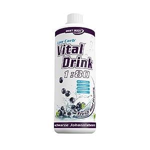 Best Body Nutrition - Low Carb Vital Drink, Apfel-Holunderblüte, 1000 ml Flasche