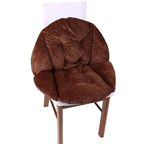 sourcingmap® Haushalt Polyester Rückenschutz Möbel Stuhl Sitzkissen Kaffee Farbe