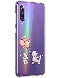 Oihxse Animal Serie Case Compatible con Samsung Galaxy S9 Funda Transparente Suave Silicona Elefante Conejo Patrón Protector Carcasa Ultra-Delgado Creativa Anti-Choque Cover (A11)