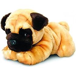 Keel Toys peluche perro carlino de peluche tumbado aprox. 30cm, en Juego con Body Mantequilla cereza–Grosella, 7ml