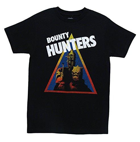 Star Wars Bounty Hunters triángulo Película Mighty Fine Envejecido Adulto Camiseta tee - -