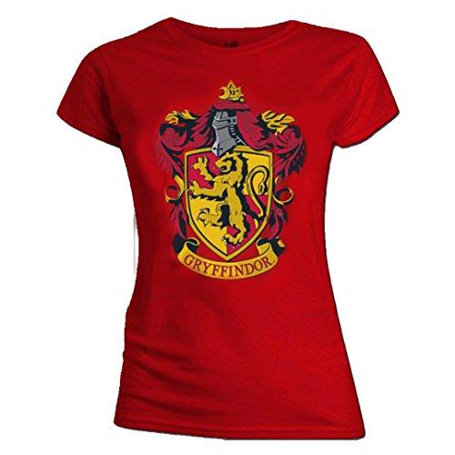 Harry Potter Official Skinny T Shirt Hogwarts Gryffindor House Red