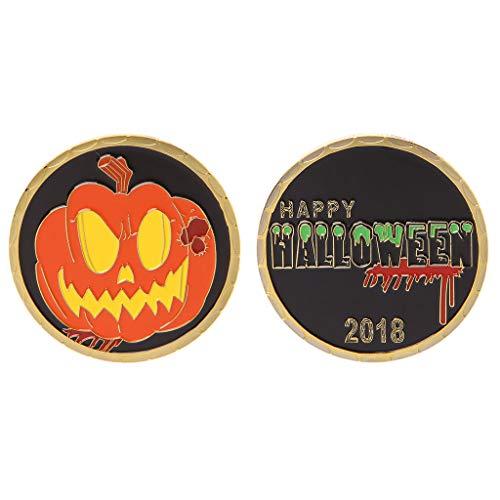 FANER 2018 Happy Halloween Gedenkmünze Kürbis Arts Collection (Halloween-kürbisse Zum Verkauf)