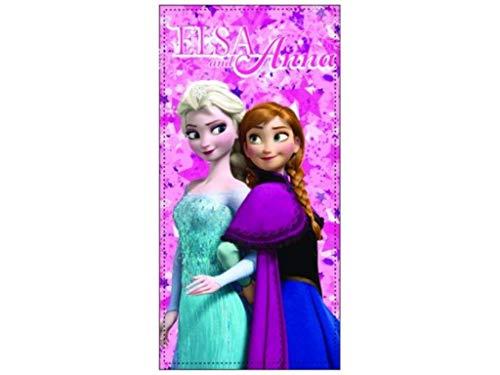 Kinder - Handtuch/Saunatuch/Strandtuch/Duschtuch/Badetuch - 70 x 140 cm - Baumwolle - Frozen ELSA und Anna - tolles Geschenk für Mädchen (EA02) (Frozen Kinder Geschenke)