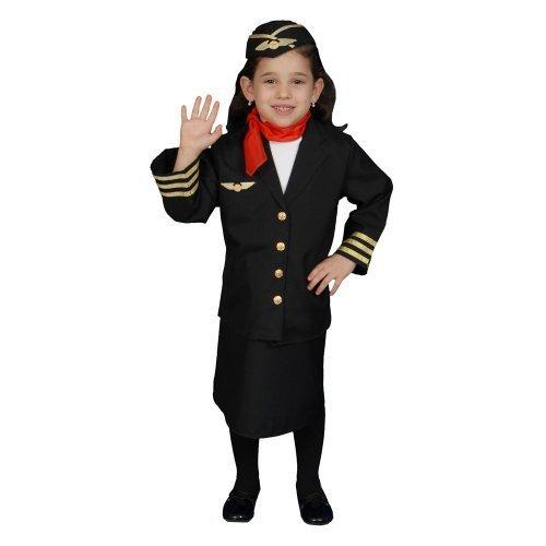 dler T4 Flight Attendant Costume Set by Dress up America ()