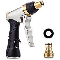 NEEGO Pistola de Riego Metálico 100% Alta Presión Pistola Rociadora Regulable del Caudal Robusto para Lavado de Coches, Riego de Jardín y Césped