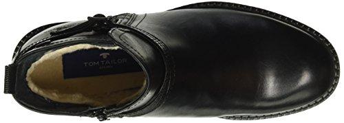 Tom Tailor 1692105, Bottes courtes avec doublure chaude femme Noir - Noir