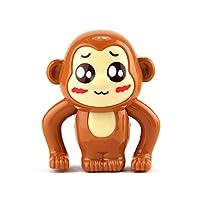 Nuohuilekeji Kids Cute Cartoon Monkey Animal Wind Up Running Plastic Clockwork Classic Toy - Random Color