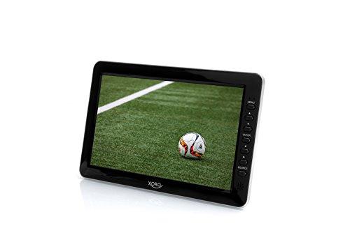 Xoro PTL 1010 26 cm (10,1 Zoll) Tragbarer DVB-T/T2 Fernseher (H265 HEVC, Mediaplayer, USB 2.0, MicroSD, Teleskopantenne, Fernbedienung) - Dvd Tv Mit Portable