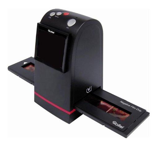 Rollei DF-S 100 Dia Filmscanner (5 Megapixel, 2,4 Farb TFT-LCD inkl. Schlitten für Farbnegative und Schlitten für Dias, TV out) schwarz