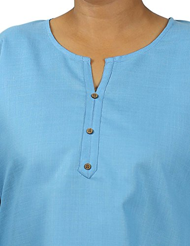 APC design kurti tunique pour femme-splendide kurtis & viskosetops coton pour femmes Bleu - Bleu