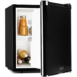 Klarstein CoolTour - Minibar, Mini réfrigérateur, 48 litres, env. 43 x 50 x 48 cm (l x h x p), très silencieux, direction d'ouverture de porte réglable, puissance de 70 W, noir