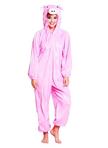Boland- costume tuta peluche porcellino per adulti, rosa, max 1,95 m, 88414
