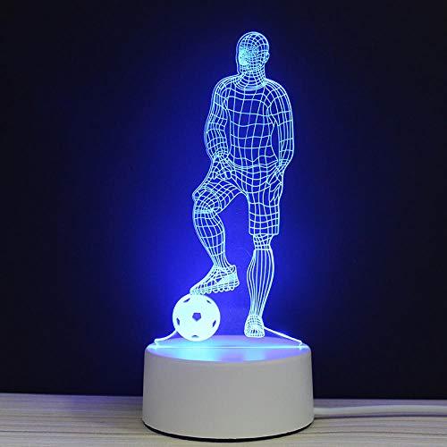 MVP Crown Nights Lampen LED Sports Series 3D Nachtlicht Touch und Fernbedienung 7 Farben Lichter Sportler Fußball Rugby Basketball RGBFootball Fans Geschenke USB wiederaufladbare Dekor für Büro Stud