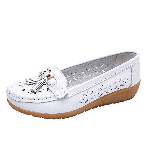 POLPqeD Sneakers Eleganti Estive Donna Mocassini con Zeppa Casual Comodo Piatte Loafers Scarpe con...