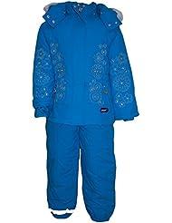 Outburst - Skianzug Jacke und Hose Schneeanzug Baby Mädchen Fleecefutter wasserabweisend, türkis