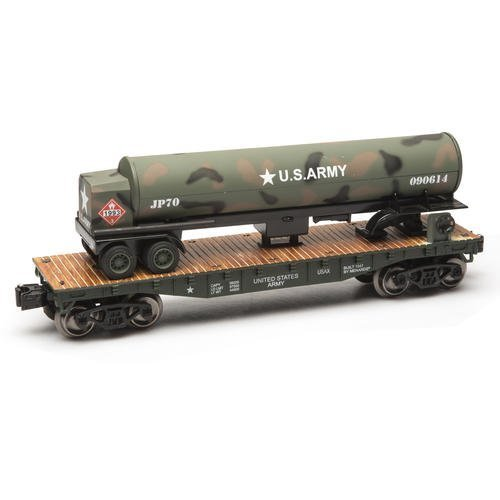 o-gauge-army-flatcar-with-tanker-truck-by-menards