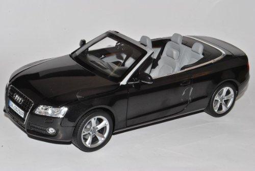 Norev Audi A5 Cabrio Schwarz 2007-2011 Vor Facelift 1/18 Modell Auto mit individiuellem Wunschkennzeichen (Audi Modell S5)